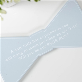 Will You Be My Page Boy Bow Plaque