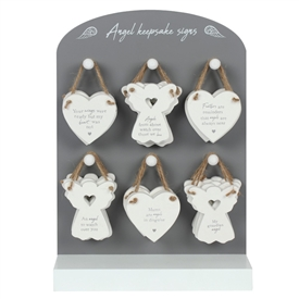 Angel And Hearts Mini Signs 7cm 6 Assorted