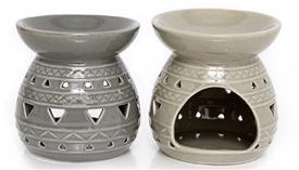 Round Oil Burner 2 Assorted 10cm