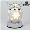 Christmas Electric Melt Burner 15cm � White Snowflake
