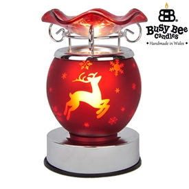 Christmas Electric Melt Burner 15cm – Red Reindeer