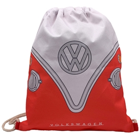 Volkswagen Red Campervan Drawstring Bag 46cm