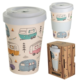 Multicoloured Campervan Travel Mug 14cm