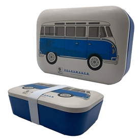 Blue Volkswagen Campervan Bamboo Lunch Box