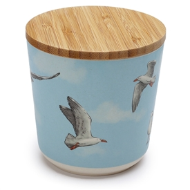Seagull Small Bamboo Storage Jar