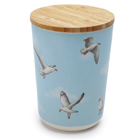 Seagull Medium Bamboo Storage Jar