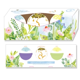 Botanical Garden Bath Bombs � Floral Fragrances set of 3