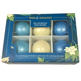 Set Of 6 Pride And Elegance Bath Bombs