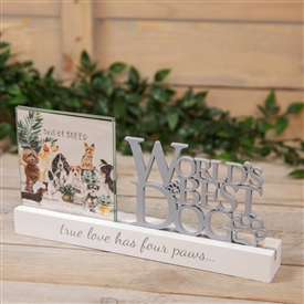 Worlds Best Dog Frame Plaque