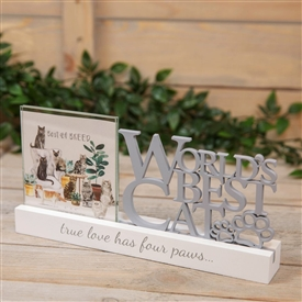 Worlds Best Cat Frame Plaque