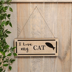Love My Cat Plaque