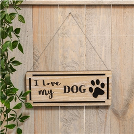 Love My Dog Plaque