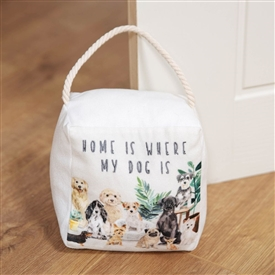 Home Is Where Dog Is Doorstop 18cm