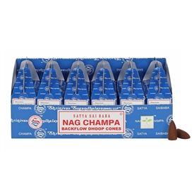 Satya Nag Champa Backflow Dhoop Cones SOLD IN 6's