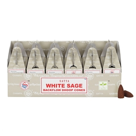 Satya White Sage Backflow Dhoop Cones SOLD IN 6's
