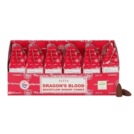 Satya Dragon's Blood Backflow Dhoop Cones SOLD IN 6's