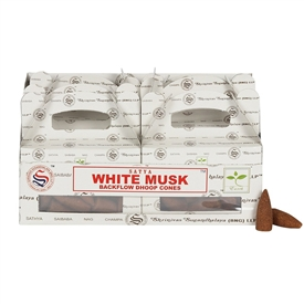 Satya White Musk Backflow Dhoop Cones SOLD IN 6's