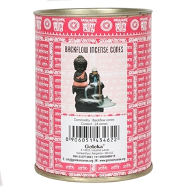 Goloka Rose Backflow Incense Cones