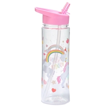 Water Bottle 500ml Lauren Billingham Rainbiow Unicorn