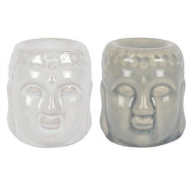 Buddha Head Oil Burner 2 Assorted Sold In 12's