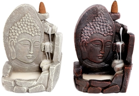 Buddha Face Backflow Incense Burner 17cm