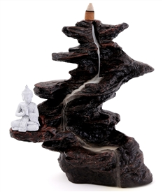 Large Buddha Waterfall Backflow Incense Burner 25cm
