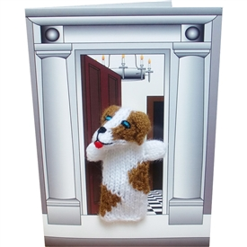 Spaniel Dog Finger Puppet Greetings Card