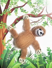 Sloth Finger Puppet Greetings Card