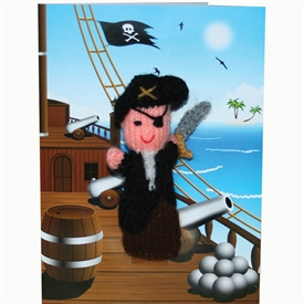 Pirate Finger Puppet Greetings Card