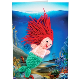Mermaid Finger Puppet Greetings Card
