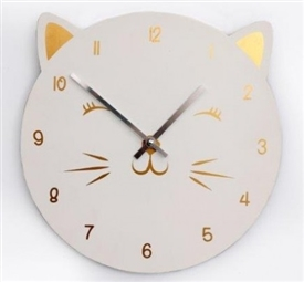 Cat Wall Clock 30cm