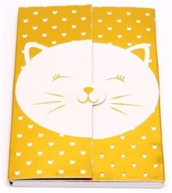 White And Gold Cat Magnetic Note Pad 18cm