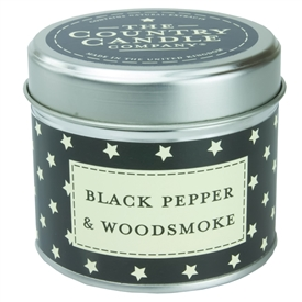 Stars Candle in Tin - Black Pepper & Woodsmoke