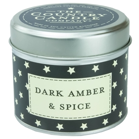 Stars Candle in Tin - Dark Amber & Spice