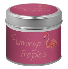Candle in Tin - Flamingo Tropics