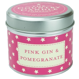 Stars Candle in Tin - Pink Gin & Pomegranate