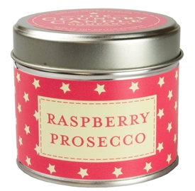 Stars Candle in Tin - Raspberry Prosecco
