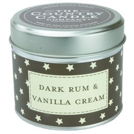 Stars Candle in Tin - Rum & Vanilla Cream