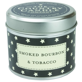 Stars Candle in Tin - Smoked Bourbon & Tobacco