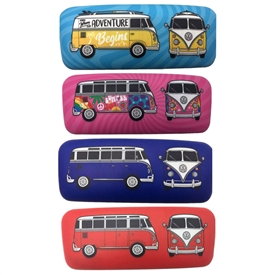Volkswagen Campervan Sunglasses Case 4 Assorted 16cm