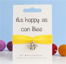 Stretch Coloured Bracelet - Happy As Can Bee