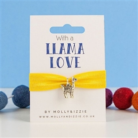 Stretch Coloured Bracelet - Llama Love