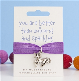 Stretch Coloured Bracelet - Unicorns & Sparkles