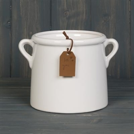 White Ceramic Pot 15cm