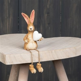 Dangly Leg Shelf Sitting Rabbit Decoration 18cm