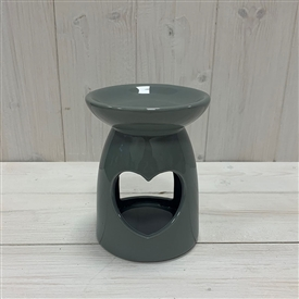 Large Grey Heart Ceramic Wax Melter