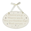 Bambino Guardian Angel Oval Plaque