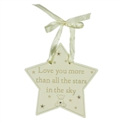 Bambino 'Love You More Than' Star Plaque