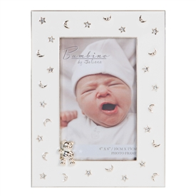 Bambino Silver Plated Moon And Stars Photo Frame 15cm