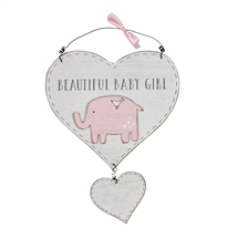 Beautiful Baby Girl Heart Plaque